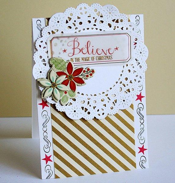 Believe card *Pink Paislee*