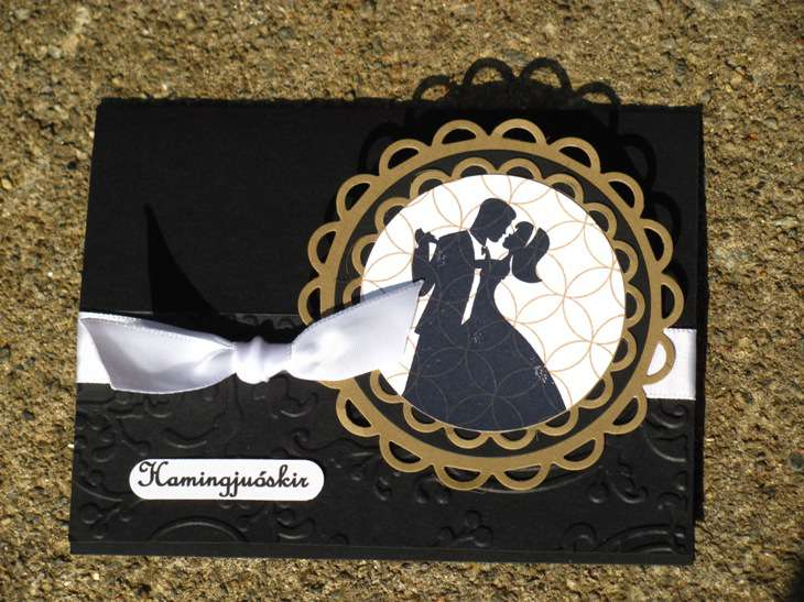 black wedding flat easel