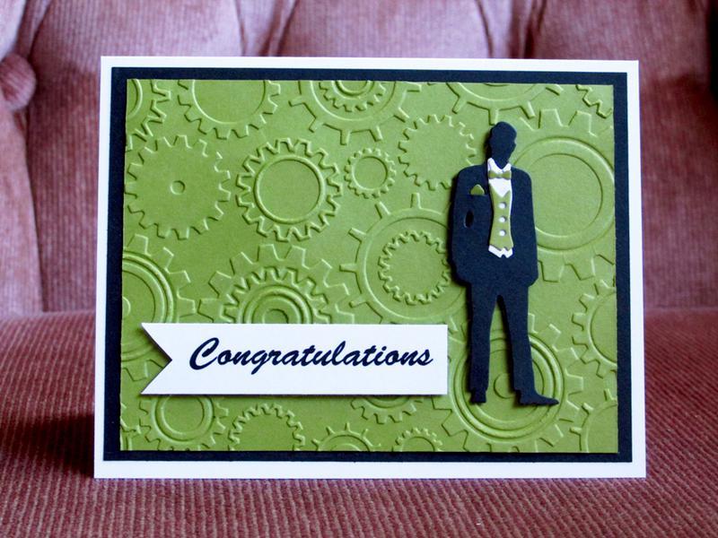 Green masculine card