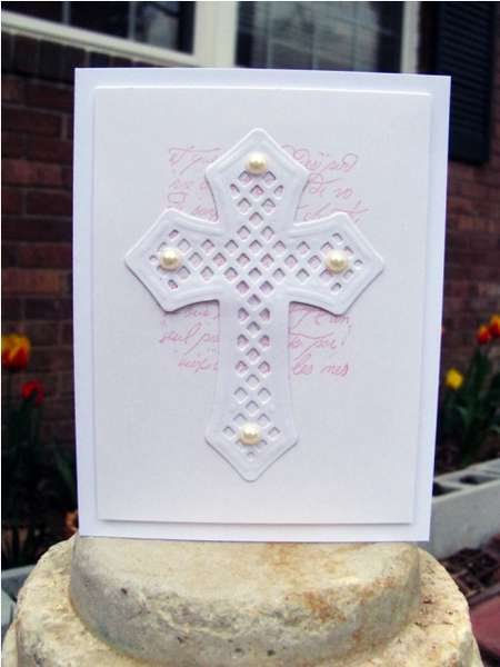 cross on pink and white