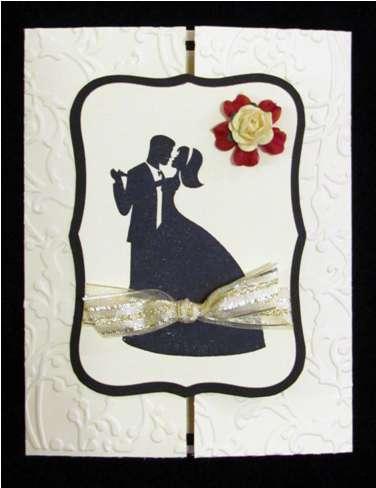 Vanilla, black and red wedding