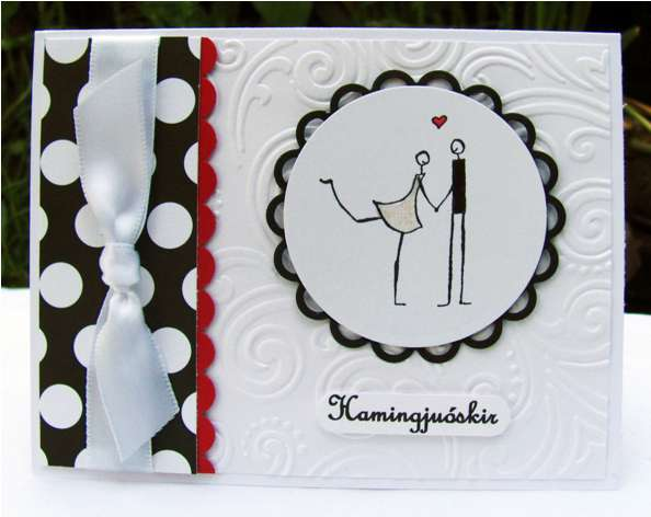 wedding in white, black and red