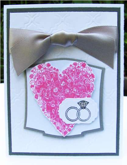 White, gray and pink wedding