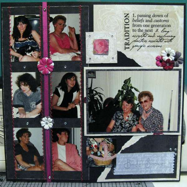 Wedding album - bridal shower
