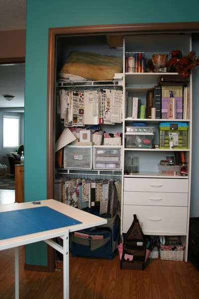 Closet and work table