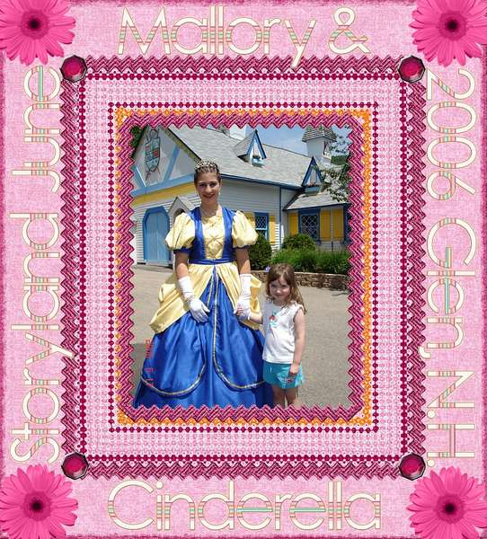 Mallory and Cinderella June 2006 at Storyland
