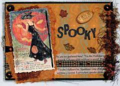 Exotic East Paper Vintage Halloween Card