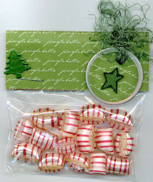 Green Holiday Mint Gift Bag