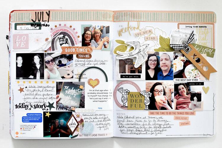 July Memory Planner Spread