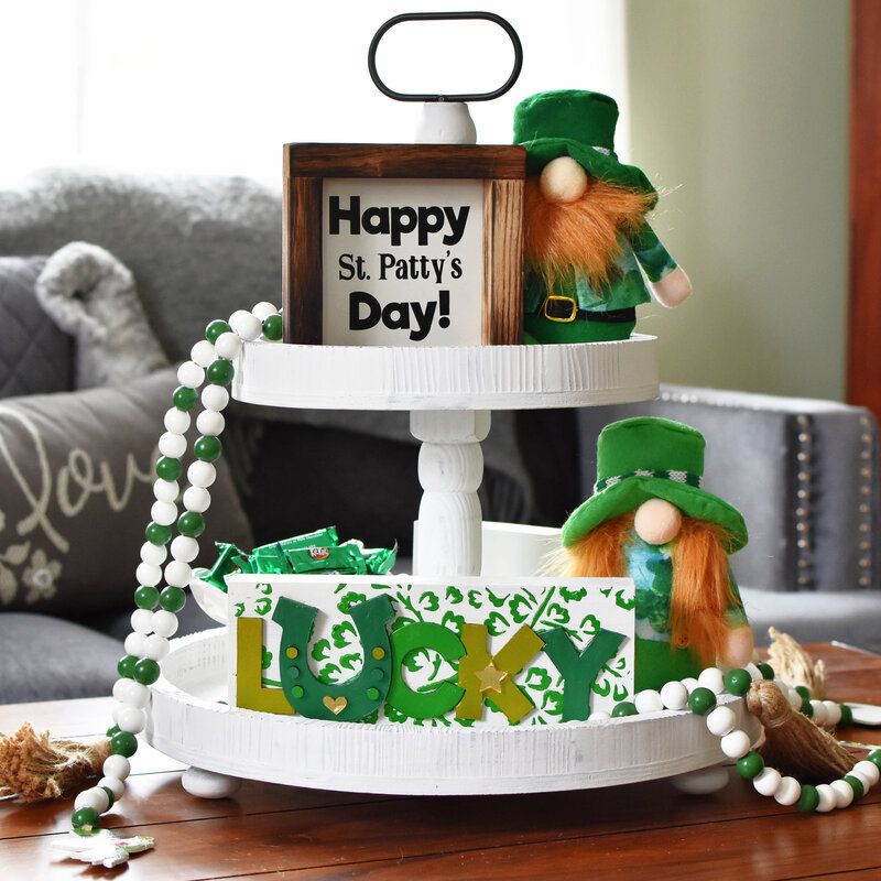 Happy St. Patty's Day Tier Tray