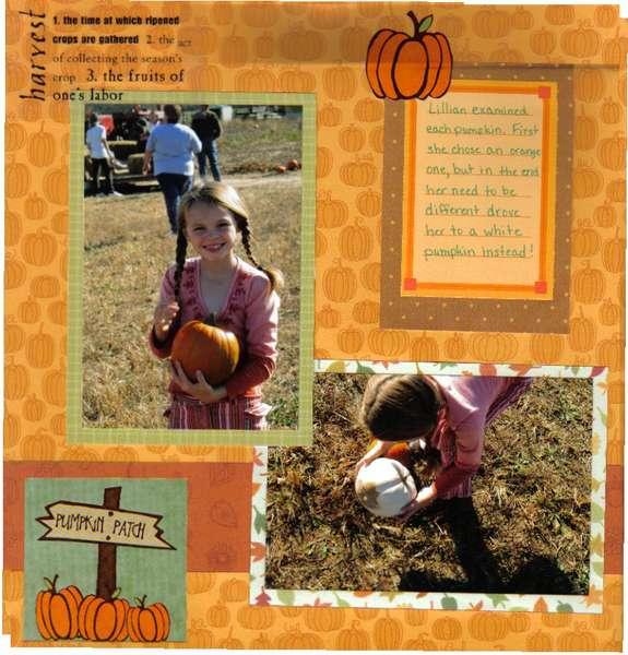 Pick a Pumpkin Lil