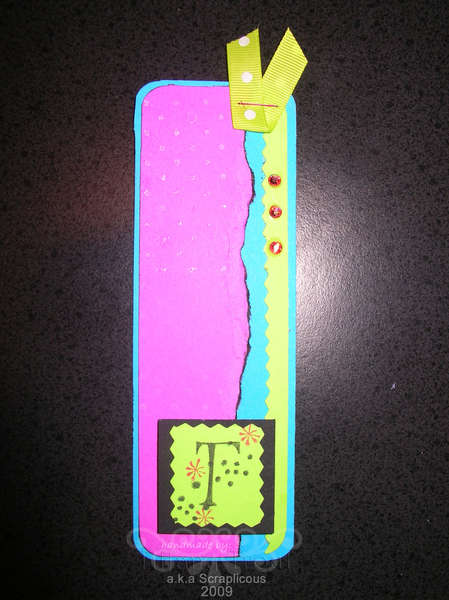 Bookmark made with scraps from coupon book project:)