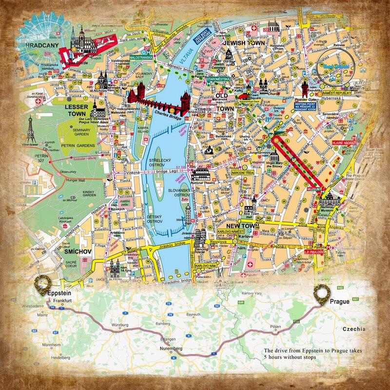 Prague Map Page
