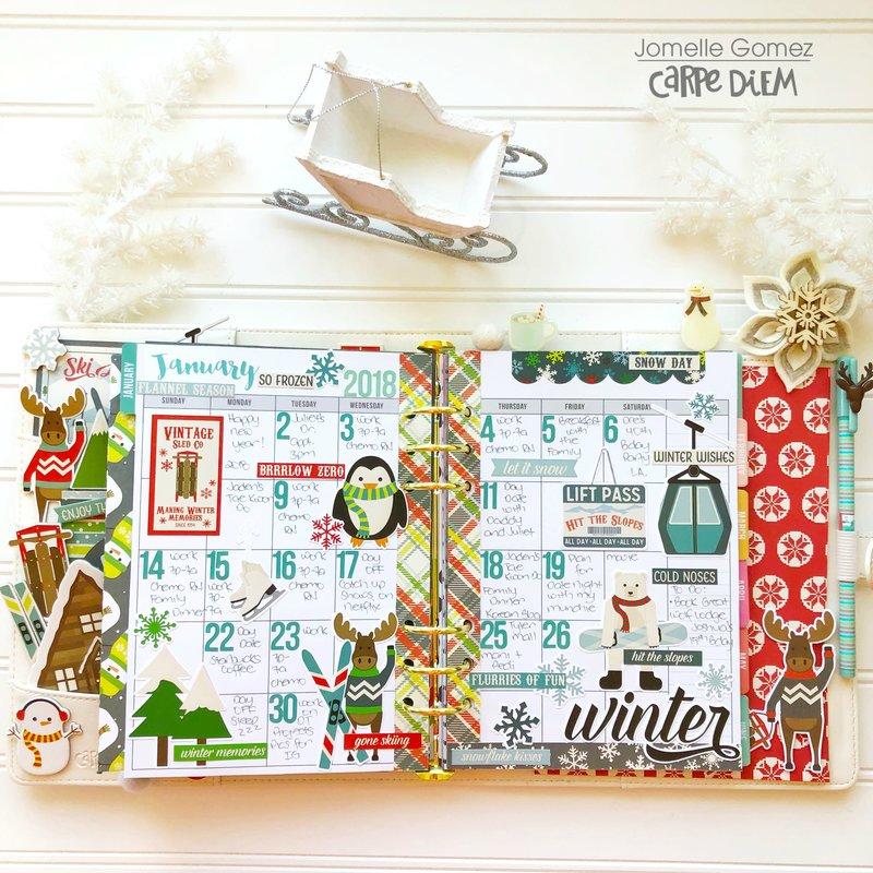 Sub Zero Winter Planner Set Up