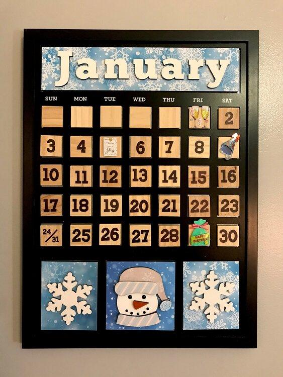 Foundations Decor Magnetic Calendar