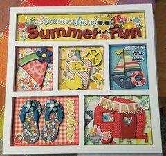 Summer Fun Shadowbox