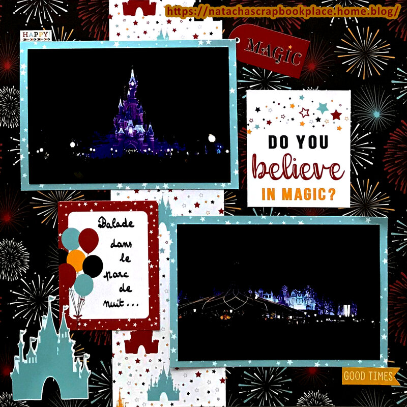 Disneyland Paris : At night – Magical Adventure 2 Papers, from Echo Park