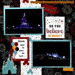 Disneyland Paris : At night � Magical Adventure 2 Papers, from Echo Park