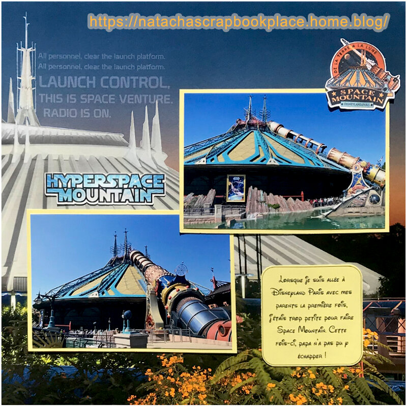 Attraction « HyperSpace Mountain » ; Disneyland Paris – Papier de Scrap Your Trip