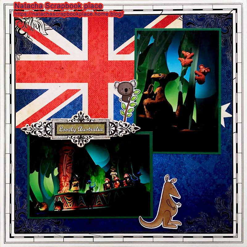 Attraction « It's a Small World » ; Australia Part – Disneyland Paris – Scrapbook Customs
