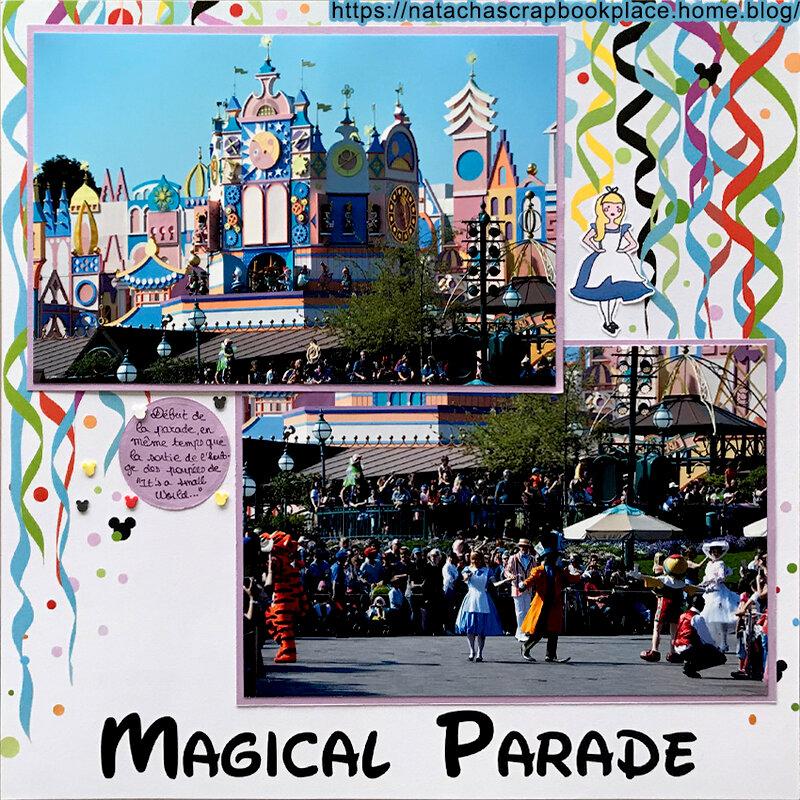 Parade, in front of « It's a small World » ; Disneyland Paris – Papier de Scrap Your Trip