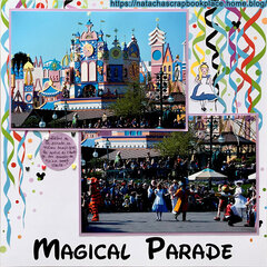 Parade, in front of « It�s a small World » ; Disneyland Paris � Papier de Scrap Your Trip