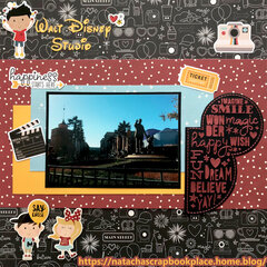 Walt Disney Studio - Collection used : Say cheese 4 from Simple stories