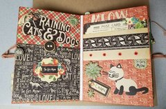 Raining Cats and Dogs mini album page 9 & 10