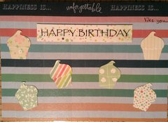 Happiness is unforgettable birthday card