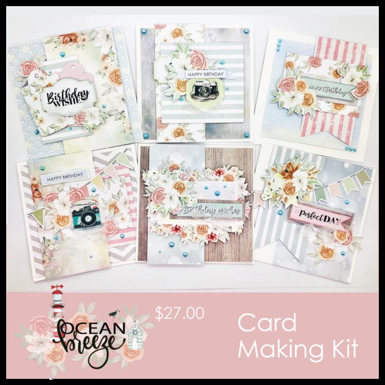 Ocean Breeze Card Kit