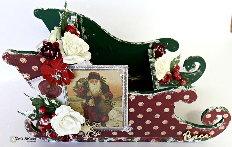 Altered Santa Sleigh