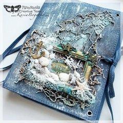 Denim Sea Stories - Art Journal Cover