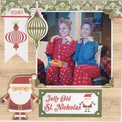 Sisters on Christmas Morning
