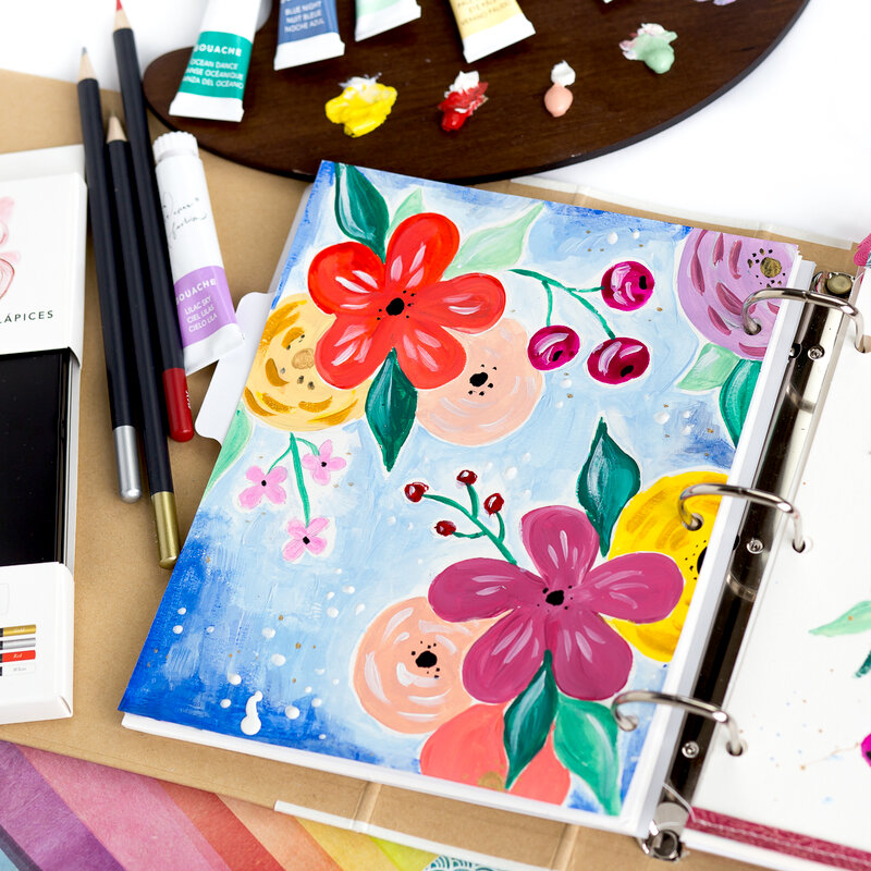 Art Journal with Paper Fashion paints