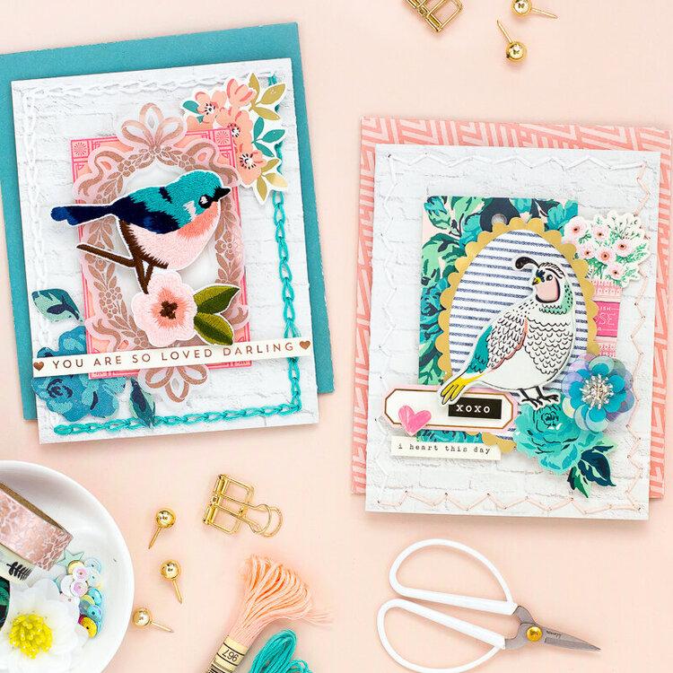 Cards with bird