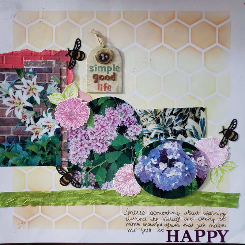 Village flowers - right page