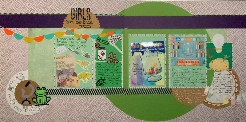 Girls Can Science Too - from my childhood
