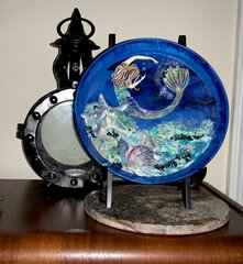 Mermaid Plate (upcycled project)