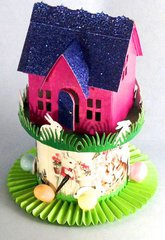 Bunny House - Vintage Village Dwelling for Easter