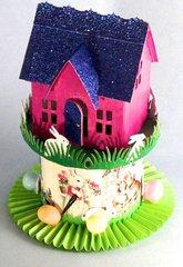 Bunny House - Vintage Village Dwelling for Easter