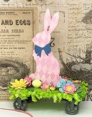 Easter Bunny Pull Toy Decoration
