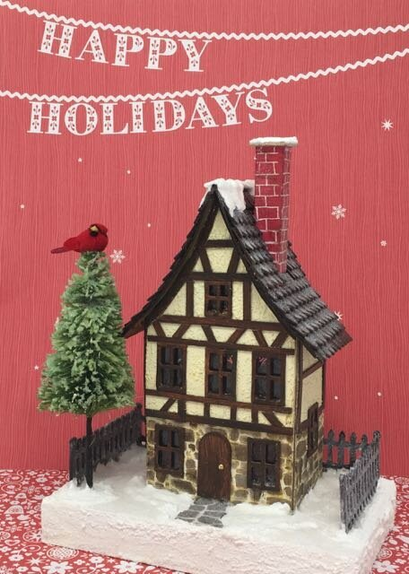 German Half-Timbered Christmas Glitter House
