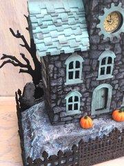 Stone-stenciled Halloween House