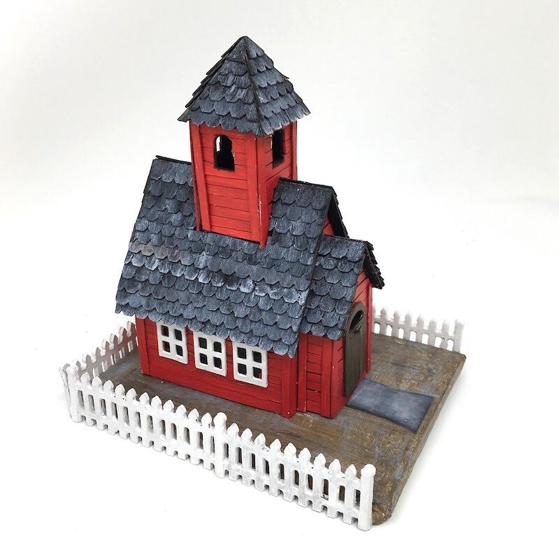 Little Red Schoolhouse Cardboard House