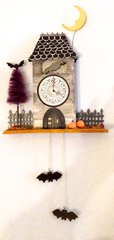 Raven Cuckoo Clock - Halloween House
