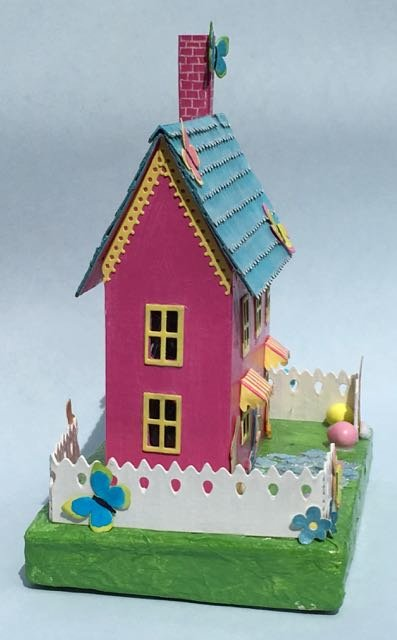 Pastel Easter House - Bunnies and Butterflies