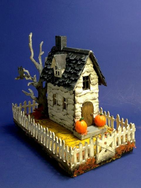 Village Brownstone as spooky Halloween house