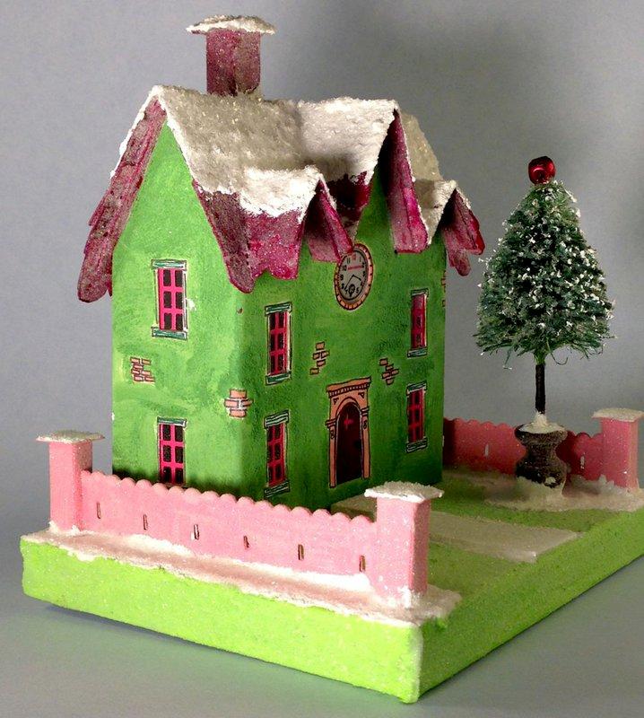 Green Glitter House