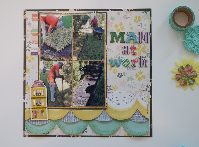 Maggie Holmes layout - Man At Work