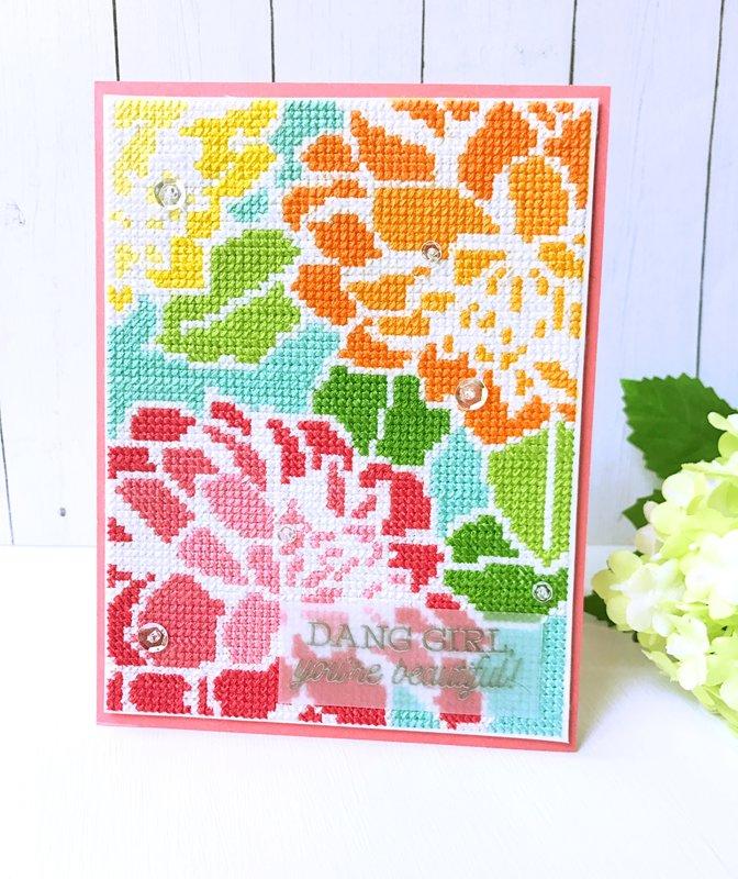 Altenew Cross Stitch Card